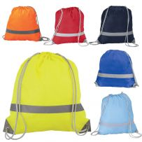 Pack of Ten High Visibility Drawstring Rucksacks